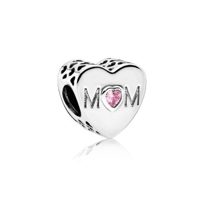 Pandora Mother Heart Charm, Pink CZ