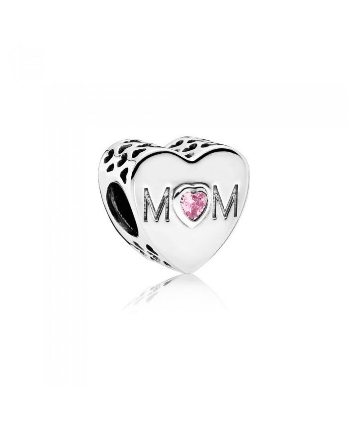 Pandora Mother Heart Charm, Pink CZ