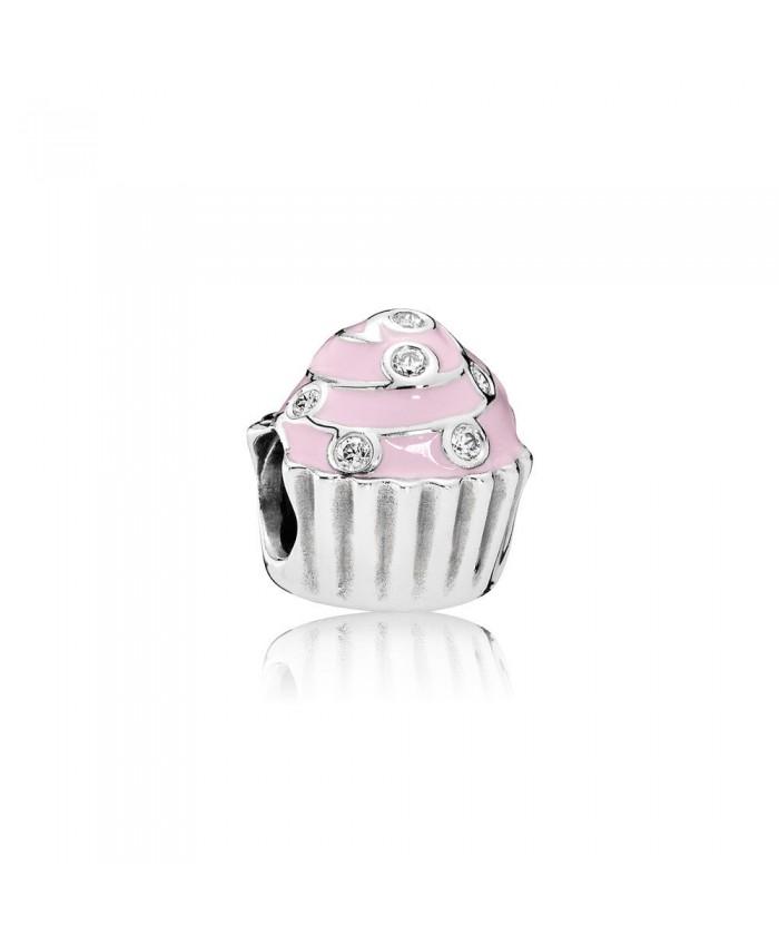 Pandora Sweet Cupcake, Light Pink Enamel & Clear CZ