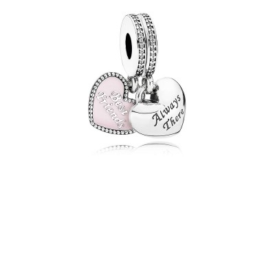 Pandora Best Friends, Soft Pink Enamel & Clear CZ