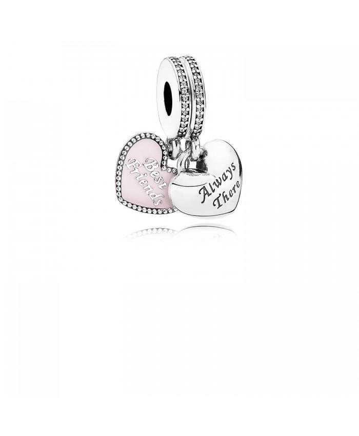 Pandora Best Friends, Soft Pink Enamel & Clear CZ