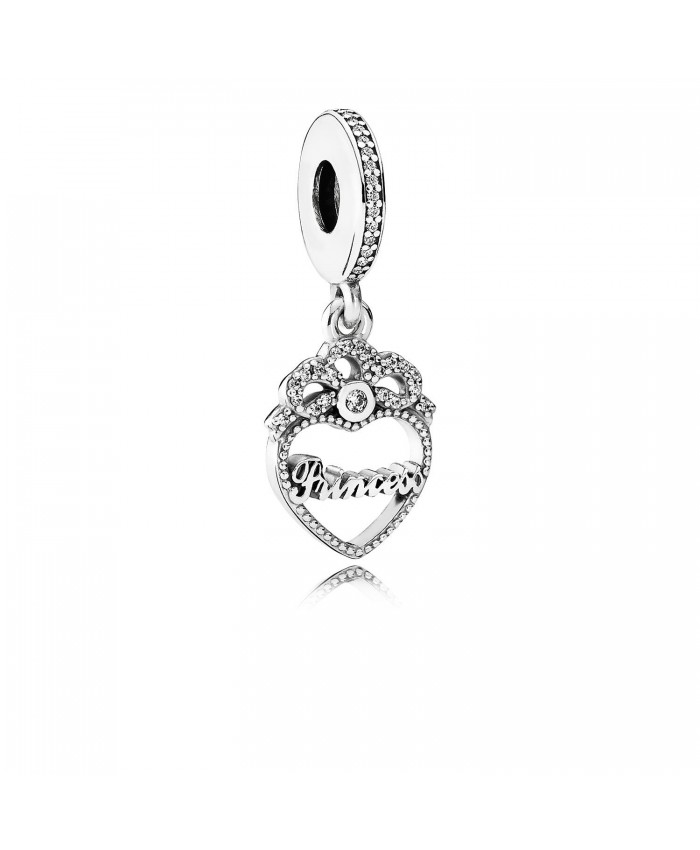 Pandora Princess Crown Heart, Clear CZ