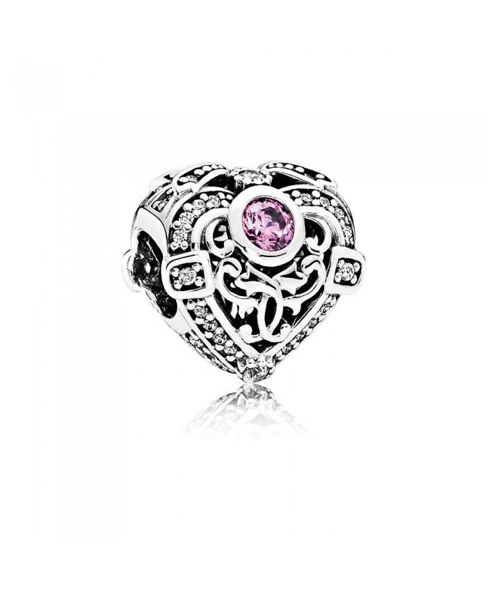 Pandora Opulent Heart, Orchid & Clear CZ