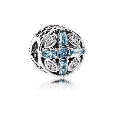 Pandora Patterns of Frost, Multi-Colored Crystal & Clear CZ