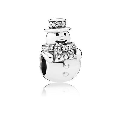 Pandora Snowman, Clear CZ