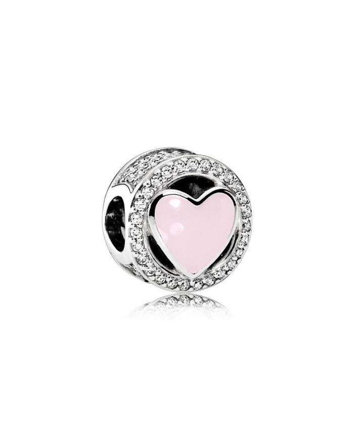 Pandora Wonderful Love, Soft Pink Enamel & Clear CZ