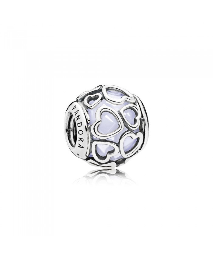 Pandora Encased in Love, Opalescent White Crystal