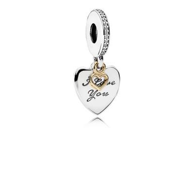 Pandora Love You Forever Dangle Charm, Clear CZ