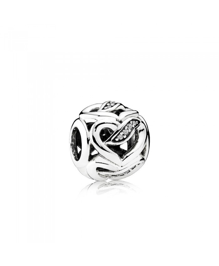 Pandora Ribbons of Love, Clear CZ