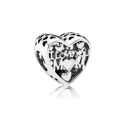 Pandora Love for Mother, Silver Enamel