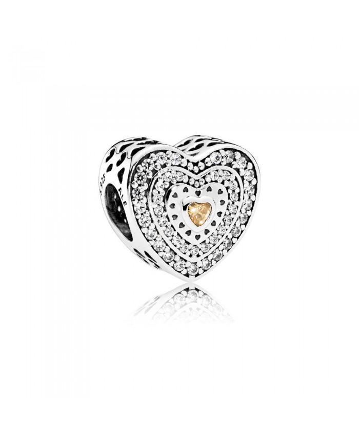 Pandora Lavish Heart, Fancy-Colored & Clear CZ