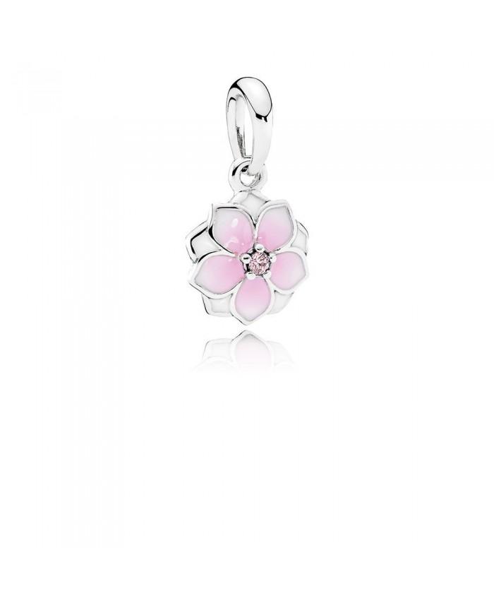 Pandora Magnolia Bloom, Pale Cerise Enamel & Pink CZ