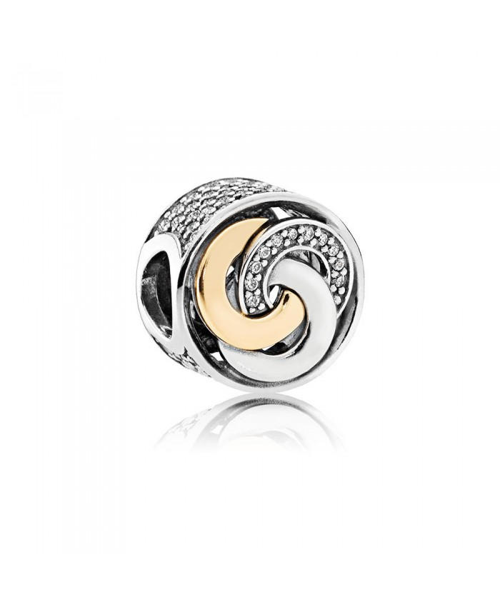 Pandora Interlinked Circles, Clear CZ