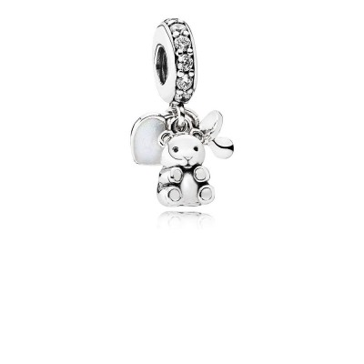 Pandora Baby Treasures, Clear CZ
