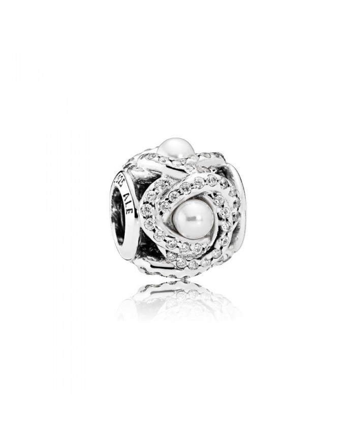Pandora Luminous Love Knot, White Crystal Pearl & Clear CZ