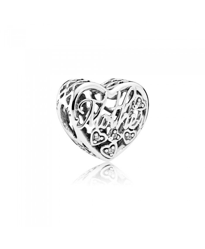 Pandora Mother & Son Bond Charm, Clear CZ