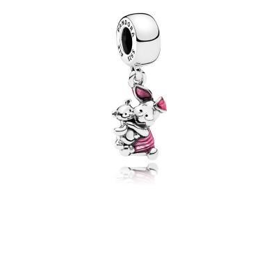 Pandora Disney, Piglet, Transparent Cerise Enamel