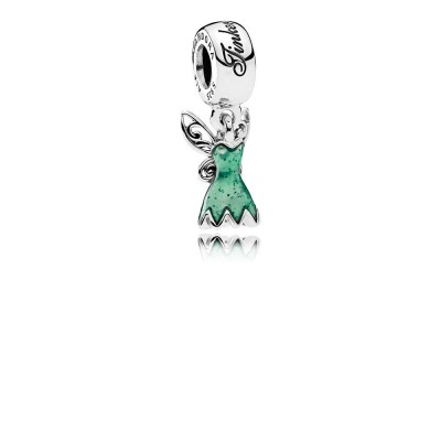 Pandora Disney, Tinker Bell's Dress, Glittering Green Enamel