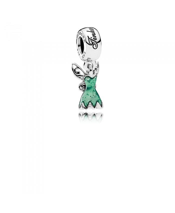 Pandora Disney, Tinker Bell's Dress, Glittering Green Enamel