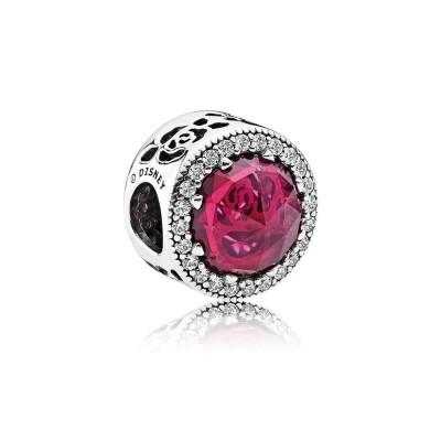 Pandora Disney, Belle's Radiant Rose, Cerise Crystals & Cubic Zirconia