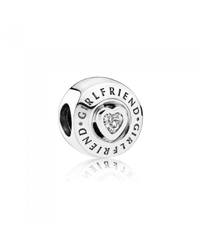 Pandora Girlfriend Charm, Clear CZ