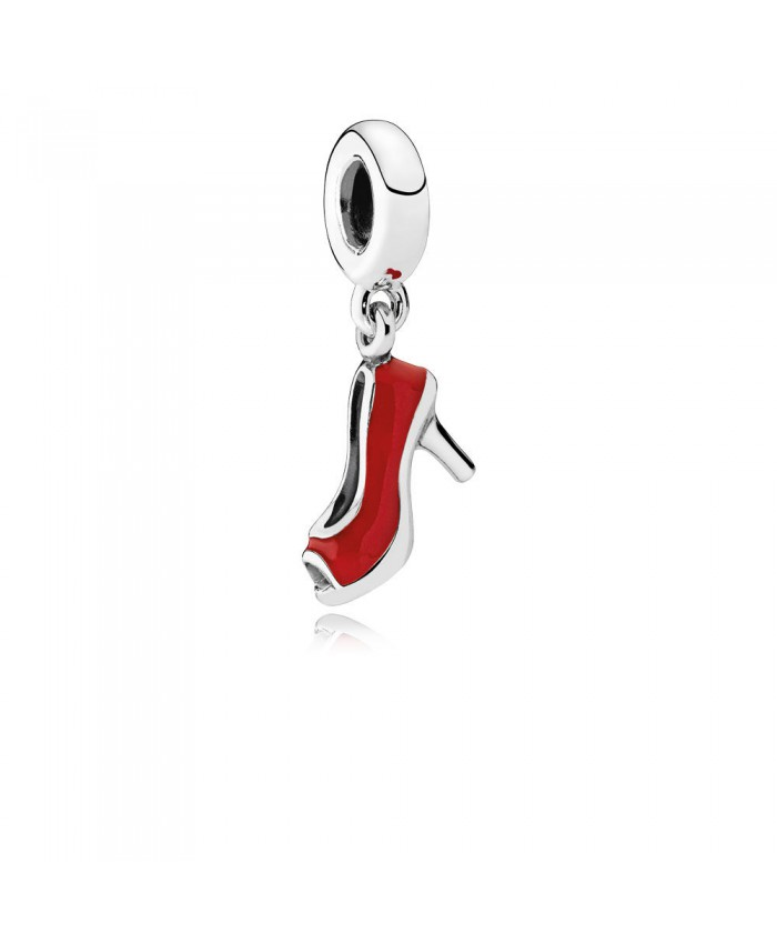 Pandora Red Stiletto Dangle Charm, Red Enamel