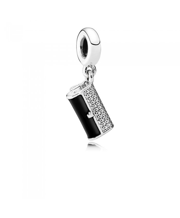 Pandora Clutch Bag Dangle Charm, Black Enamel & Clear CZ