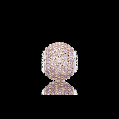Pandora LOVE, 14K Rose Gold & Pink Crystal