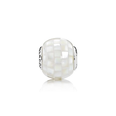 Pandora GENEROSITY, White Mother-of-Pearl Mosaic