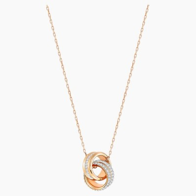 Swarovski Further Pendant White Rose-gold Tone Plated