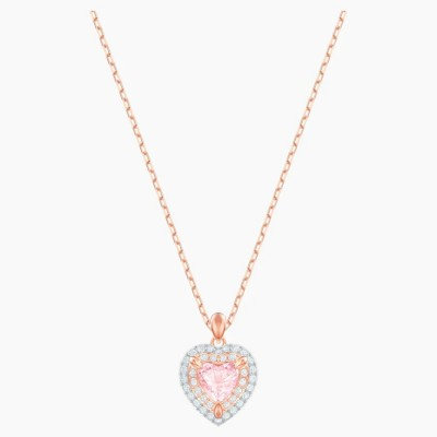 Swarovski One Pendant Multi-colored Rose-gold Tone Plated