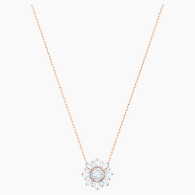 Swarovski Sunshine Pendant White Rose-gold Tone Plated
