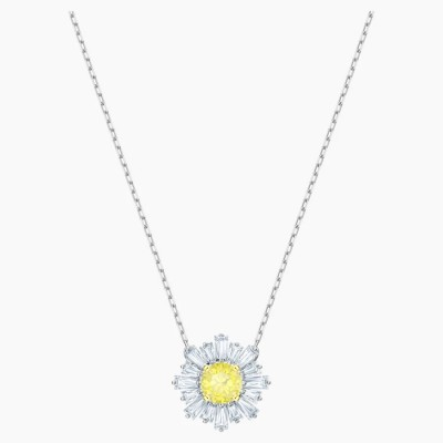 Swarovski Sunshine Pendant, Yellow, Rhodium Plated