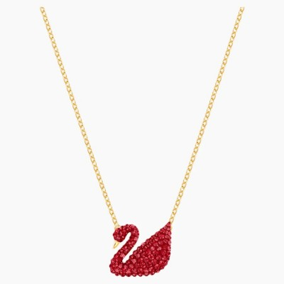 Swarovski Iconic Pendant, Red, Gold-tone Plated